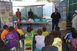 Ms Charlotte Vada speaking to children