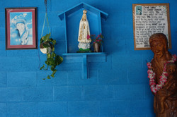 Statue of Mother Mary and Image of Mothe