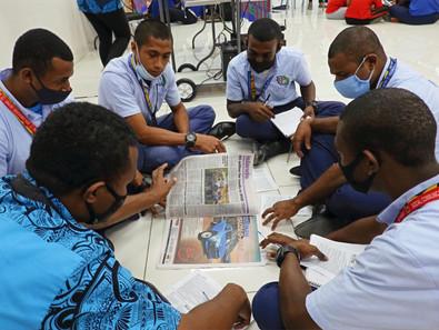 Media students focus on print media
