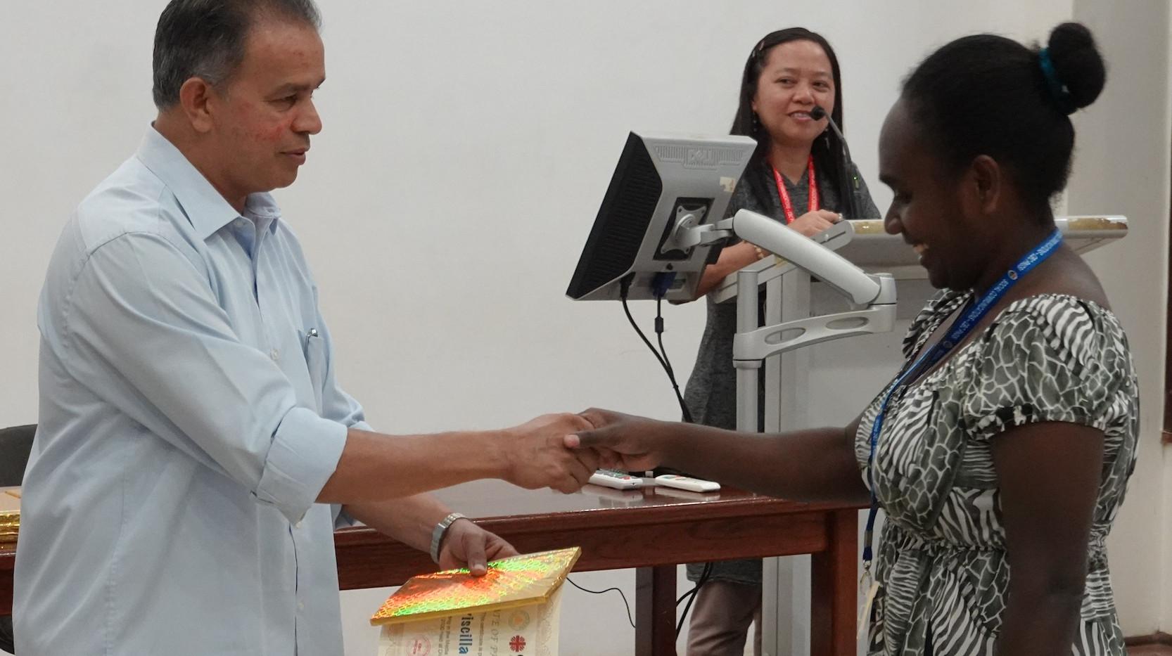 1 Presentation - Pricilla Ragu receiving