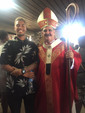 Archbishop Chris Cardone with Sebastian