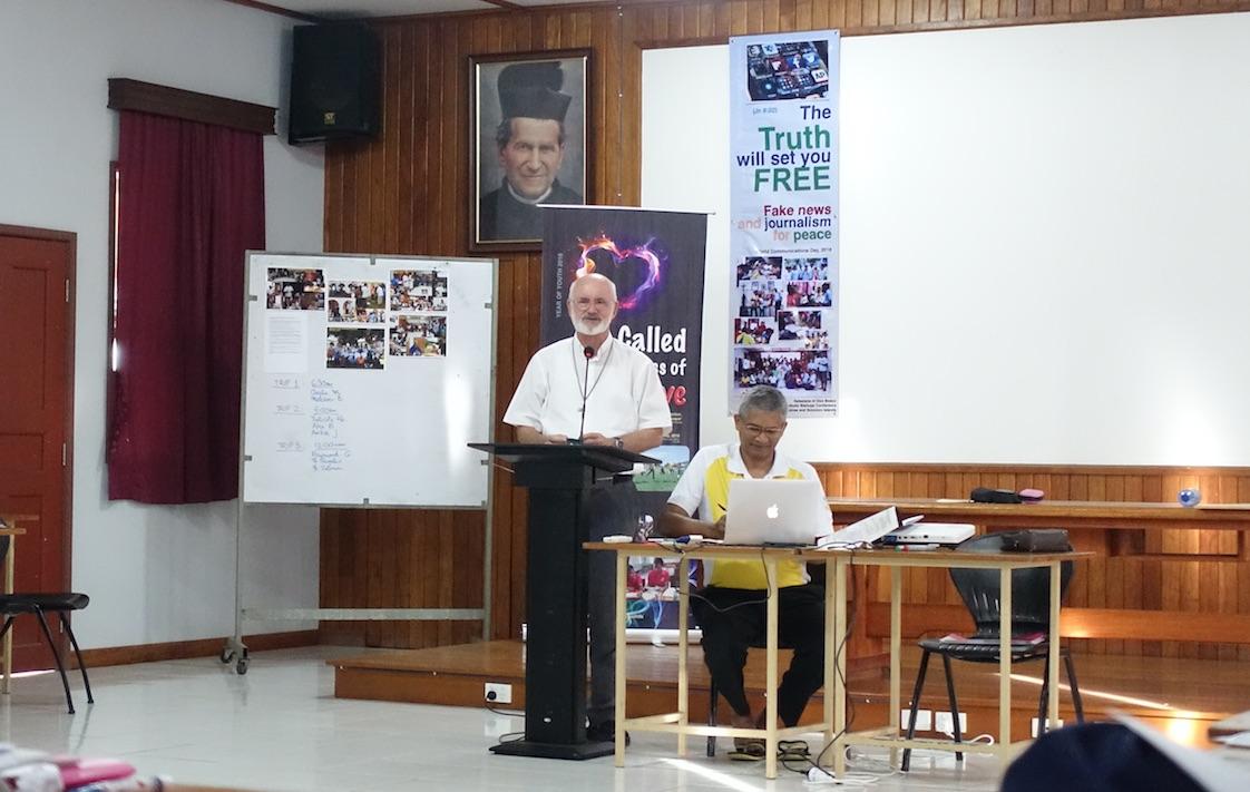 1 Bp Douglas Young svd speaking ot the participants