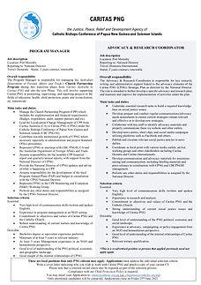 Job Advert Combined2 - Caritas PNG FINAL