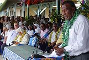 1 VIPs - Governor addressing the gatheri