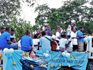 Motorcade Marks End of Holy Rosary Month