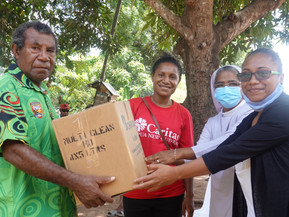 CBC staff donate food items to West Papuan Community