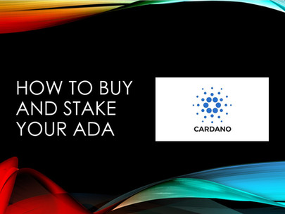 How to Buy and Stake Your ADA