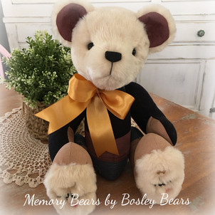 Jointed Bear  35cm with Fur Head