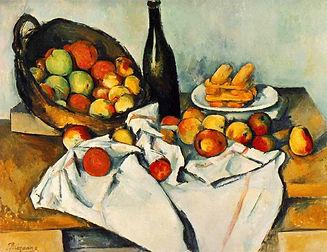 1. STILL. Cezanne, Still Life with Baske