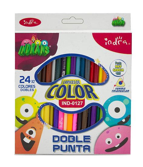 lapices de color indrans dobles 24 piezas