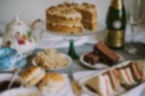 High tea - Dartmouth. Banquet Boat, Posh Picnic, Fizz