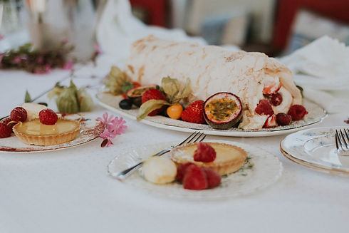 Banquet Boat, Dartmouth, dessert, Lemon Tart, Summer Fruit Roulade or Chocolate Brownies with Devon Clotted Cream