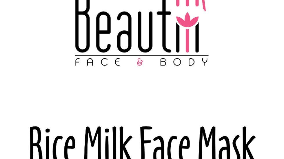 Rice Milk Face Mask