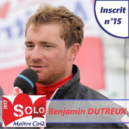 L'ogien Benjamin Dutreux, 15ème inscrit.