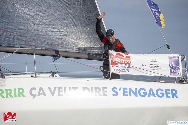 Benjamin Schwartz fini 3ème de la 1ère course côtière