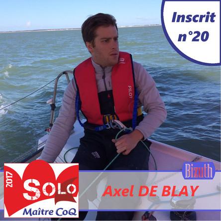 20ème inscrit et 4ème bizuth : Axel De Blay