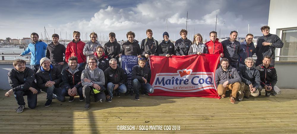Les skippers de la Solo Maître CoQ 2018