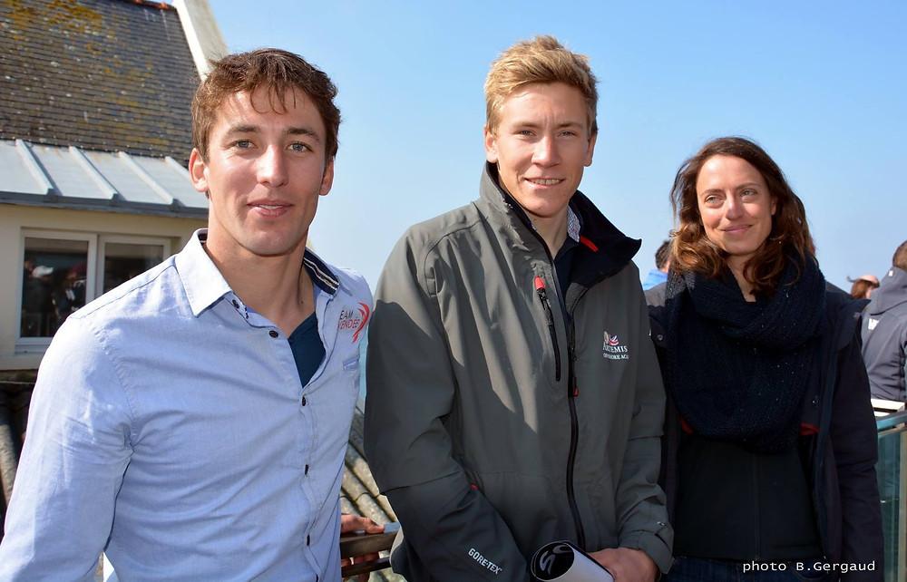Podium des Bizuths : (de gauche à droite) Marc Noesmoen, Will Harris, Justine Mettraux