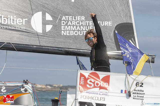Achille Nebout vainqueur de la 1ère course côtière