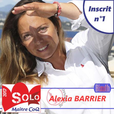 Alexia Barrier, 1ère inscrite et 1ère Bizuth de la 14ème édition.