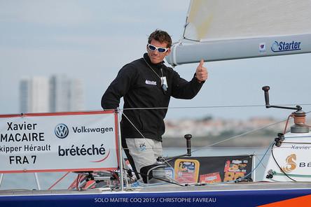 News : Xavier Macaire vainqueur de la grande course au large.