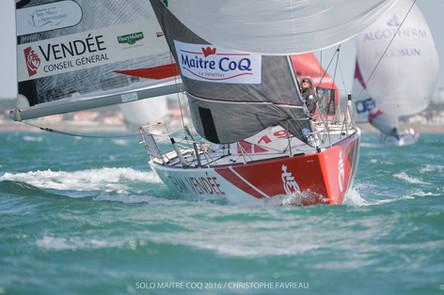 Benjamin Dutreux en éclaireur sur la grande course de la Solo Maître CoQ.