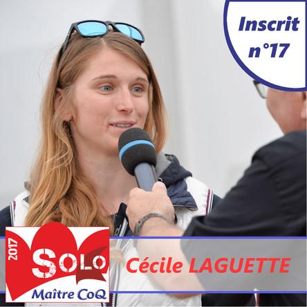 Cécile Laguette, 4ème femme et 17ème inscrite.