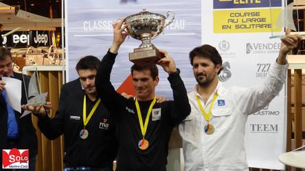 Nautic 2015 : Remise des prix du Championnat de France Elite de Course au Large en Solitaire 2015