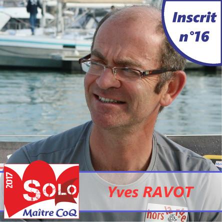 Yves Ravot, 16ème inscrit !