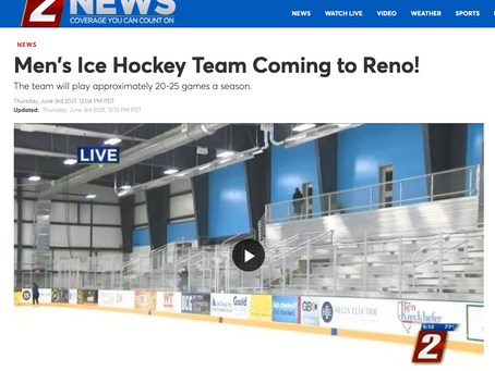 Men's Ice Hockey Team Coming to Reno!