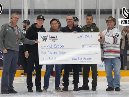Ice Raiders Raise Over $8K for Red Cross