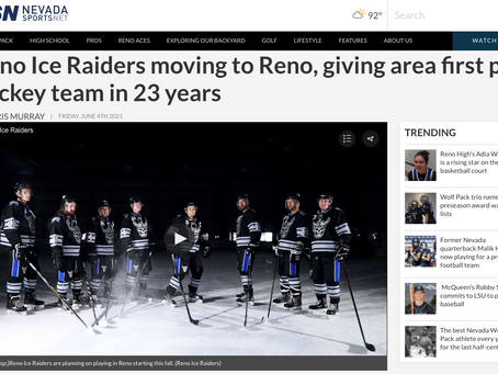 Reno Ice Raiders moving to Reno, giving area first pro hockey team in 23 years