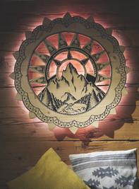 Lampe bois et dessin sur mesure