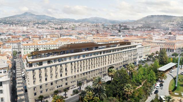 Luxury hotels.