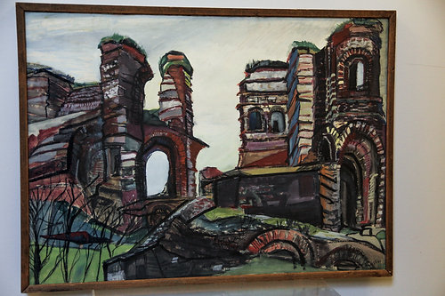 Myra Elias painting: Roman Ruins in France