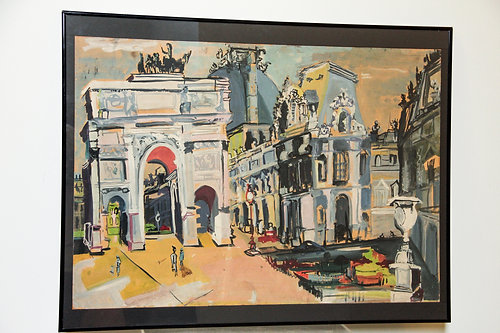 Myra Elias painting: Paris aka Brandenburg Gate