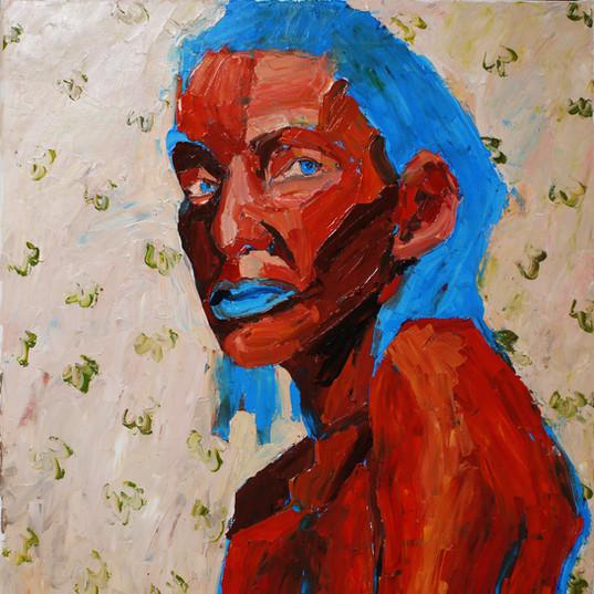 Без названия, 20190309  холст, масло oil on canvas 90 x 70