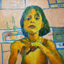Без названия, 20190331  холст, масло oil on canvas 150 x 180