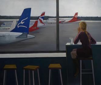 Аэропот / Аn airport, 2013 холст, масло, акрил oil on canvas,acrylic 180 х 210