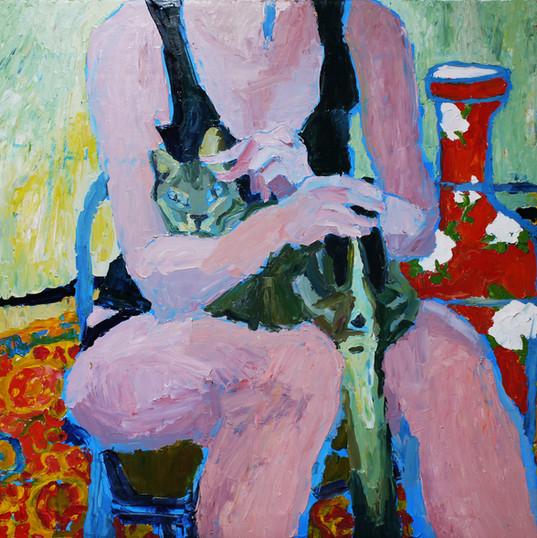 ВАЗА С ПИОНАМИ  20190915-16  холст, масло oil on canvas 105 x 150