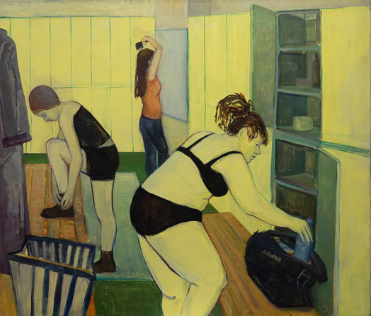 В раздевалке / In the locker room, 2012 холст, масло oil on canvas 120 x 140