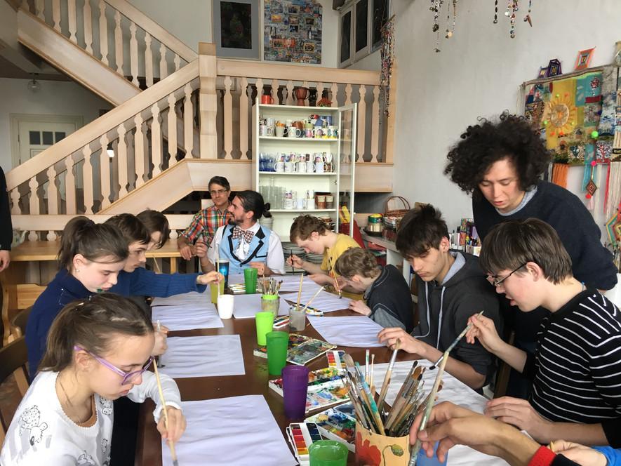 Мастер класс по рисованию акварелью москва