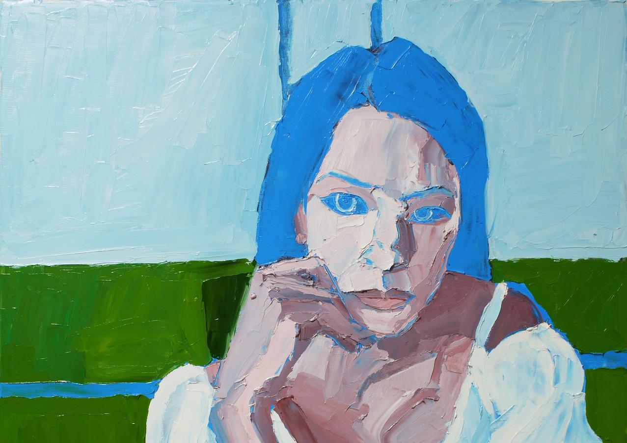 БЕЗ НАЗВАНИЯ, 20200410-11 холст, масло oil on canvas 90 x 70
