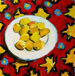 ДЮЖИНА АБРИКОСОВ, 20191101  холст, масло oil on canvas 80 x 70