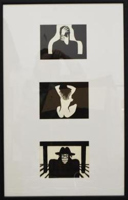 Иллюстрации к Кобо Абэ Избранное ЧУЖОЕ ЛИЦО, 1982  Линогравюра