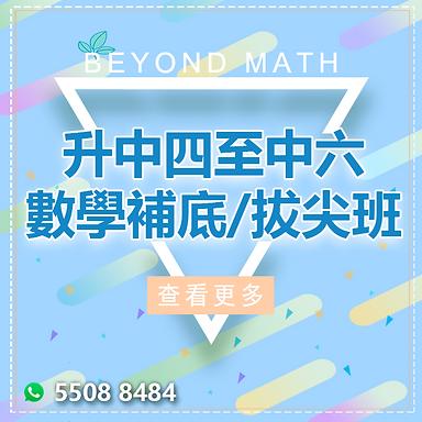 升中四至中六  數學暑期課程