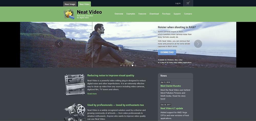 NeatVideo homepage