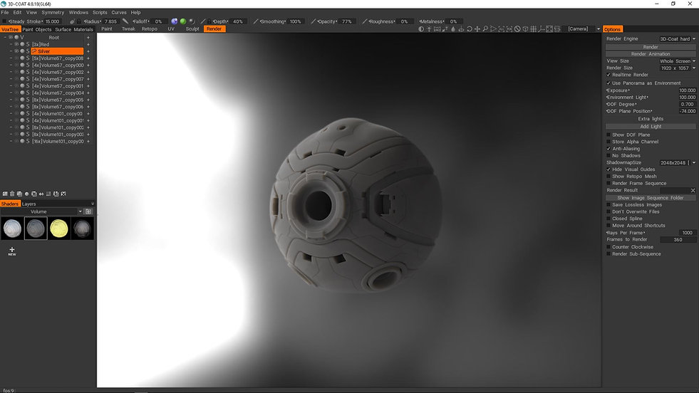 3dcoat Smart Materials, VFX, Compositing