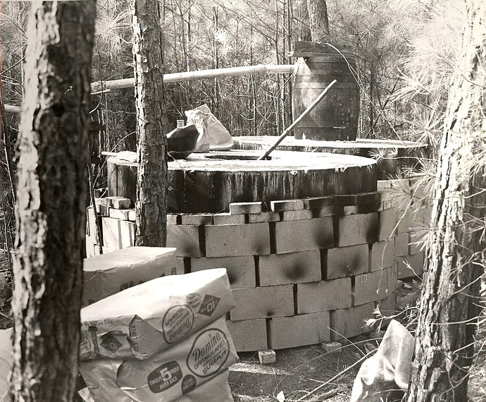 Moonshine still in the woods Cherokee Co