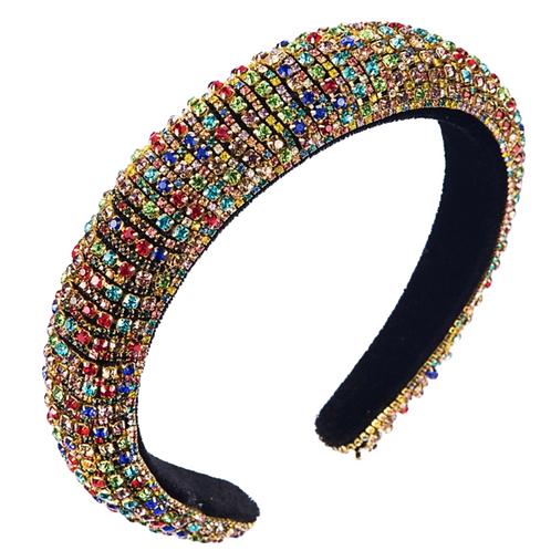 Rainbow Rhinestone Headband